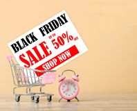 Black friday sale card. Royalty Free Stock Images