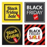 Black friday sale card sets Stock Photos