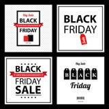 Black friday sale card sets Royalty Free Stock Image