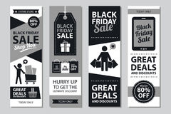 Black friday sale card sets. This is Black friday sale card sets design.  file Royalty Free Stock Photography