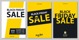 Black friday sale card sets Stock Photography