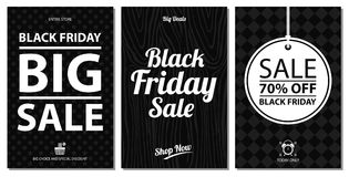 Black friday sale card sets. This is Black friday sale card design.   file Stock Photography