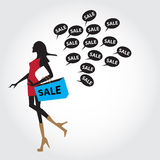 Black friday sale for commercial and ads Royalty Free Illustration