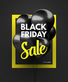 Black Friday Sale concept background. Royalty Free Stock Photo