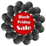 Black Friday sale concept with black balloons Stock Photos