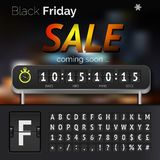 Black Friday sale countdown timer Royalty Free Stock Photography