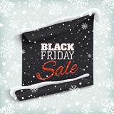Black Friday sale. Curved paper banner Royalty Free Stock Images