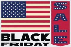 Black friday sale cute banner. Vector illustration. Stock Images