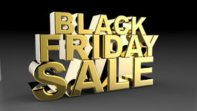 Black Friday Sale 3D illustration Arkivbilder