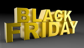 Black Friday Sale 3D illustration Arkivfoton