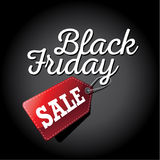 Black Friday sale 3D tag Stock Images