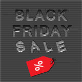 Black friday sale 3d  template Royalty Free Stock Image