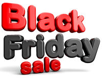 Black Friday. Sale 3D text  on white background Royalty Free Stock Photos