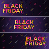 Black friday sale. Dark blue web banner. Royalty Free Stock Image