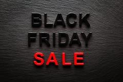 Black Friday Sale on dark slate. Background Stock Photo