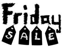 Black Friday Sale Design for Advertising royalty free stock photo