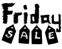 Black Friday Sale design för annonsering royaltyfri foto