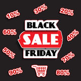 Black friday sale design Royalty Free Stock Photo