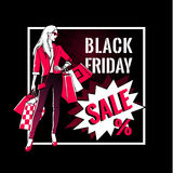 Black Friday sale design. Stock Photography