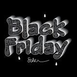 Black Friday sale design Royalty Free Stock Photos