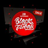 Black Friday sale design with lettering. Black Friday banner. Vector illustration vector illustration