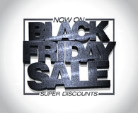 Black friday sale design, super discounts now on, clearance banner mock up Royalty Free Stock Photo
