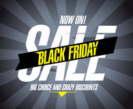 Black friday sale design. Black friday sale design template Royalty Free Stock Photography