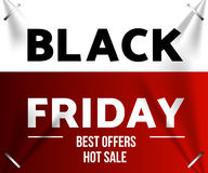Black friday sale. Design template black friday banner, poster vector illustration Royalty Free Stock Photography