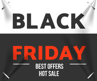 Black friday sale. Design template black friday banner, poster vector illustration Stock Image