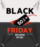 Black friday sale. Design template black friday banner, poster vector illustration Royalty Free Stock Photo