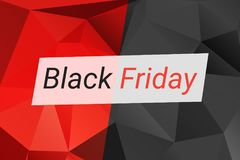 Black Friday sale design template. Black Friday banner. Vector illustration. Black Friday sale design template. Vector illustration with triangles in red, black stock illustration