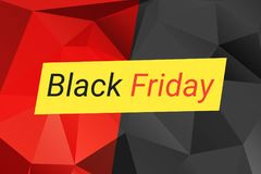 Black Friday sale design template. Black Friday banner. Vector illustration. Black Friday sale design template. Vector illustration with triangles in red, black royalty free illustration