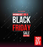 Black friday sale design template. Conceptual layout for web and print Royalty Free Stock Photo