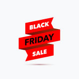 Black Friday sale design template. Creative banner. Vector illus Stock Photo