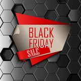 Black friday sale design template with gray hexagonal background. Illustration of Black friday sale design template with gray hexagonal background vector illustration