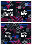 Black friday sale design template. Royalty Free Stock Images