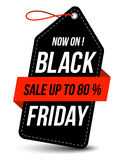 Black friday sale. Design template black friday tag, vector illustration Stock Image