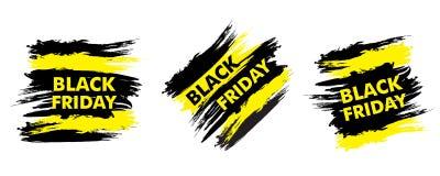 Black Friday sale design. Vector Royalty Free Stock Image