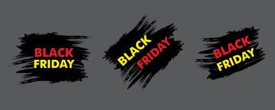 Black Friday sale design. Vector Royalty Free Stock Photos