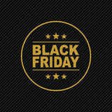 Black Friday gold sign Royalty Free Stock Photos