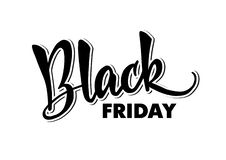 Template of handlettering Black Friday. Modern calligraphy. For royalty free stock image
