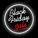 Black friday sale. Discount text vector illustration. Clothes, food, electronics, cars sale Royalty Free Stock Photos