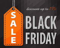 Black friday. Sale. Discount up to 75% Stock Photography