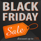 Black friday. Sale. Discount up to 75% Stock Images