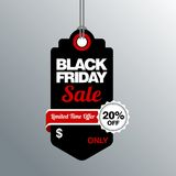 Black Friday Sale, discount and voucher template Stock Image