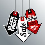Black Friday Sale, discount and voucher template Royalty Free Stock Photo