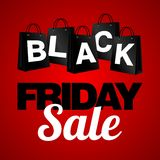 Black Friday Sale, discount and voucher template Stock Photography