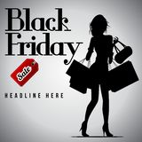 Black Friday Sale, discount and voucher template Royalty Free Stock Image