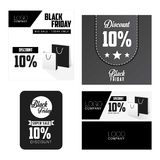 Black Friday Sale, discount and voucher template Royalty Free Stock Images