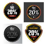 Black Friday Sale, discount and voucher template Stock Photo